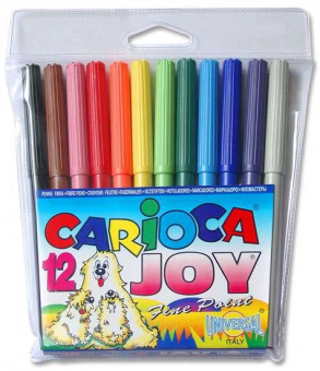 Markere Carioca Joy, varf 2 mm, 12 culori/set