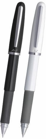 Pix cu gel PENAC FX-2, rubber grip, 0.7mm, corp negru - scriere neagra