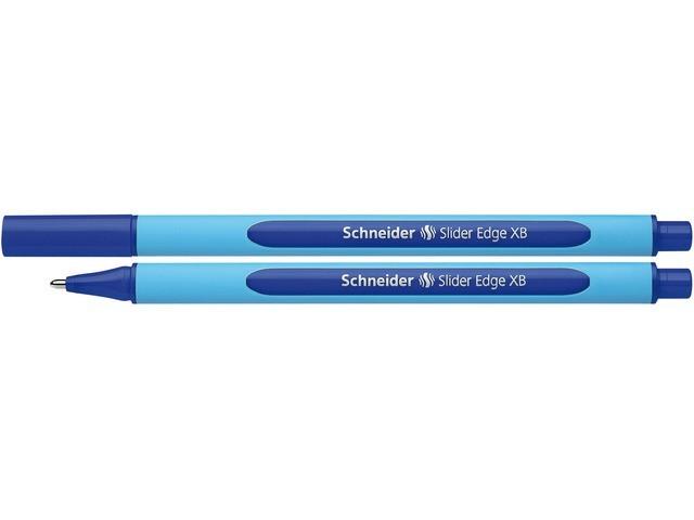 Pix SCHNEIDER Slider Edge XB, rubber grip, varf 1.4mm - scriere albastra