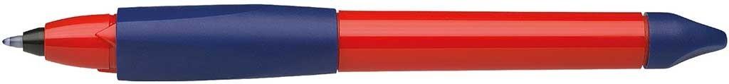 Roller cu cartus SCHNEIDER Base Ball, rubber grip, corp mov/rosu, cu decor - scriere albastra