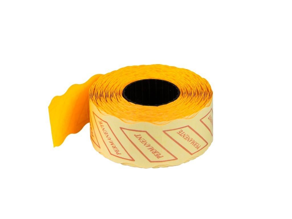 ETICHETE PRET 26x16 mm, 1000 buc/rola, PORTOCALIU