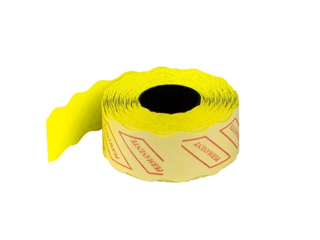 ETICHETE PRET 26x16 mm, 1000 buc/rola, GALBEN