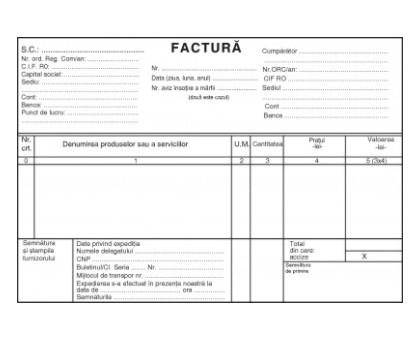 FACTURIER AUTOCOPIATIV A5 FARA TVA 3 exemplare