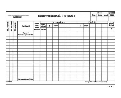 REGISTRU DE CASA IN VALUTA AUTOCOPIATIV A4