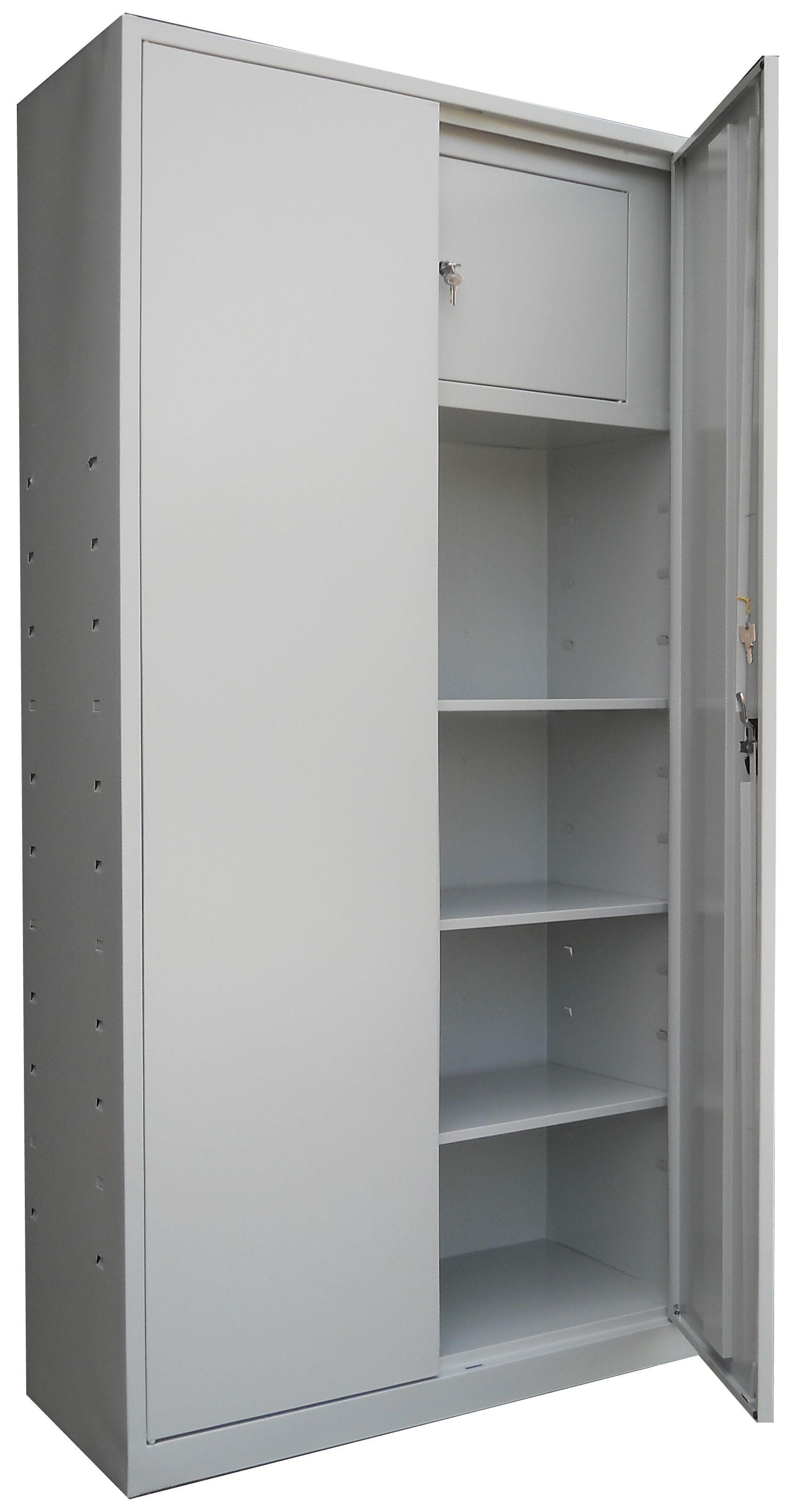 FISET METALIC CU 3 RAFTURI SI SEIF 900x400x1800 mm (LxlxH), 35 kg/polita, ECO
