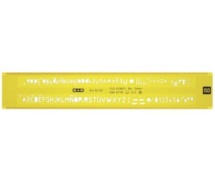 SABLON LITERE PROFIL H (ISO 3098.B) 3,5 mm, M+R