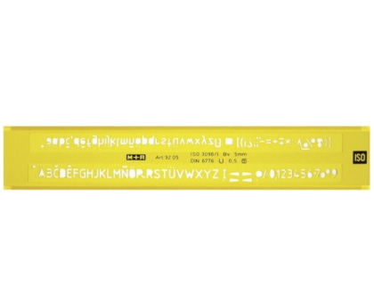 SABLON LITERE PROFIL H (ISO 3098.B) 7 mm, M+R