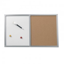TABLA MAGNETICA+PANOU PLUTA+MAGNETI+MARKER 40X60CM