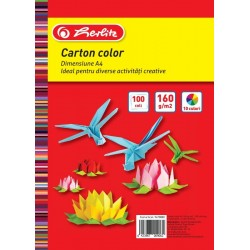 CARTON COLOR A4 160GR TOP 100 DIVERSE CULORI