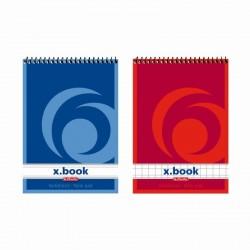 BLOC NOTES A7 50F SPIRALA PATRATELE X.BOOK