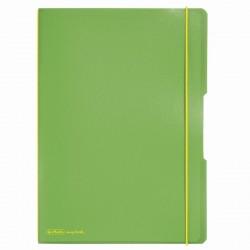 CAIET MY.BOOK FLEX A4 2X40F 70GR DICTANDO+PATRATELE VERDE DESCHIS TRANSPARENT CU LOGO GALBEN