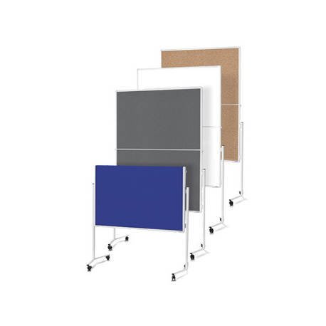 PANOU PREZENTARE MGN MOBIL PLIABIL 1200 x 1500 mm, dubla fata gri, 2111301