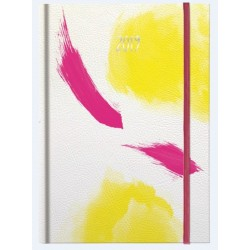 AGENDA A5 DATATA WATERCOLOR 352 FILE + 16 FILE ZENTANGLE MOTIV PINK YELLOW 2019