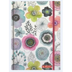 AGENDA A5 DATATA WATERCOLOR 352 FILE + 16 FILE ZENTANGLE MOTIV FLOWERS 2019