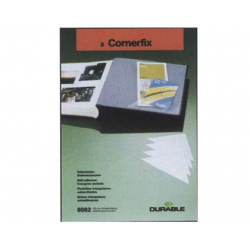 BUZUNAR AUTOADEZIV PVC CORNERFIX 75x125 mm, 8 buc/set, DURABLE