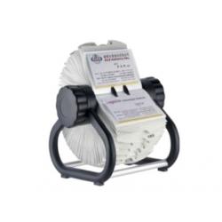 SUPORT ROTATIV PENTRU 400 CARTI DE VIZITA CU INDEX, CLS-022 (aluminiu)