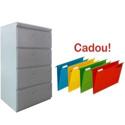CLASIFICATOR METALIC DUBLU CU 4 SERTARE 840x610x1365 mm (LxlxH), ECO+, +CADOU!!! (20 DOSAR SUSPENDABIL ELBA Verticflex)