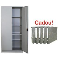FISET METALIC CU 4 RAFTURI, 800x350x1800 mm, 40 kg/polita, PLUS+CADOU!!! (5 BIBLIORAFT MARMORAT ECONOMY 8 CM)