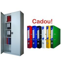 DULAP METALIC CU 3 RAFTURI SI SEIF ECO+, 900x400x1900 mm+5 Bibliorafturi Cadou!