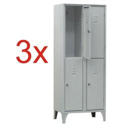 3x VESTIAR METALIC CU PICIOARE SI 4 USI 113/04