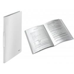 Dosar de prezentare cu 20 de folii, LEITZ Style, plastic PP - alb arctic