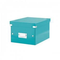 Cutie arhivare 216 x 160 x 282 mm, LEITZ Click & Store, carton laminat - turcoaz