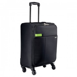 Troller LEITZ Smart Traveller, cu 4 rotile - negru