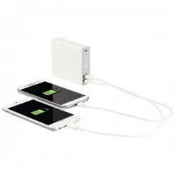 Baterie externa LEITZ Complete, cu 2 porturi USB, 12000 mAh - alb