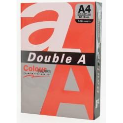 Hartie color pentru copiator A4, 80g/mp, 100coli/top, Double A - rosu intens