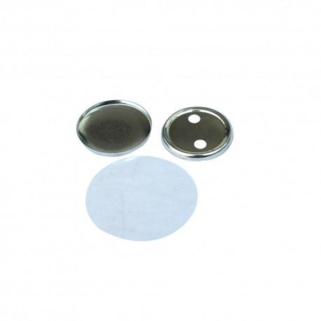 SUBANSAMBLE PRODUCTIE INSIGNE ROTUNDE CU SPATE METALIC DE 44 mm