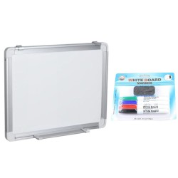 TABLA ALBA MAGNETICA 180x120 cm rama aluminiu, +Plus Office+CADOU! (Set 4 markere+burete)