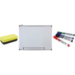 WHITEBOARD MAGNETIC 90x120 cm Extra + Bonus!!! (Set 4 markere+burete)