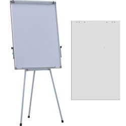 Flipchart magnetic Extra 70x100 cm, inaltime ajustabila + hartie flipchart