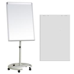 Flipchart magnetic mobil 70x100 cm cu brate laterale +Plus Office + hartie flipchart