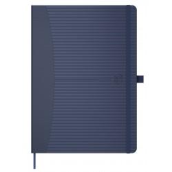 Caiet cu elastic, A5, OXFORD Signature Touch, 80 file-90g/mp, Scribzee comp., dictando - albastru