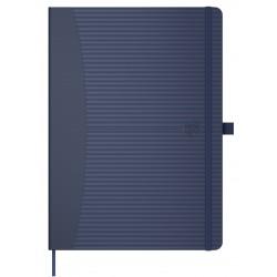 Caiet cu elastic, A5, OXFORD Signature Touch, 80 file-90g/mp, Scribzee comp., mate - albastru
