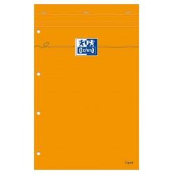 Blocnotes A4+, OXFORD Orange, 80 file-90g/mp, Scribzee comp.,4 perf., coperta carton - dictando