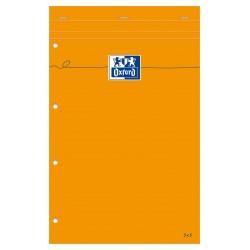 Blocnotes A4+, OXFORD Orange, 80 file-90g/mp, Scribzee comp.,4 perf., coperta carton - matematica