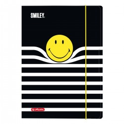MAPA A3 INCHIDERE CU ELASTIC, MOTIV SMILEY BLACK STRIPES
