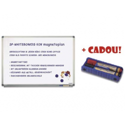 TABLA MAGNETICA MAGNETOPLAN 90x120 cm + CADOU!!! (Burete magnetic + 2 markere)