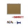 PANOU AFISAJ PLUTA 90x120 CM, RAMA ALUMINIU + CADOU!!! (Pioneze panou pluta asortate 35 buc/cutie)