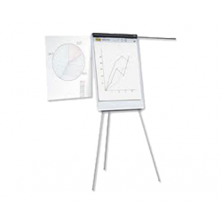 FLIPCHART MAGNETIC CU BRATE LATERALE SMART 70x100 cm