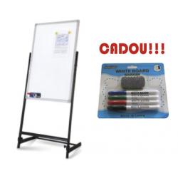 FLIPCHART MAGNETIC STANDARD DUO BBNU 70x100 cm + CADOU!!! (SET 4 MARKER WHITEBOARD + BURETE)