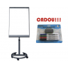 FLIPCHART MAGNETIC STANDARD MOBIL BBNN 70x100 cm + CADOU!!! (SET 4 MARKER WHITEBOARD + BURETE)