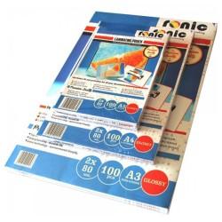 FOLIE DE LAMINAT 80X111 mm A7 RONIC, 125 microni