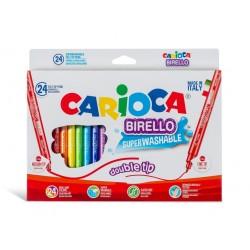 Carioca Birello varf dublu 24/set, 24 buc