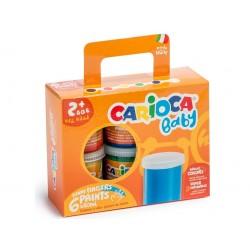 Acuarele Baby Finger Paint Carioca 6x80 ml, 24 seturi