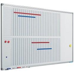 Planner pentru 53 de saptamani, 60 x 120 cm, profil aluminiu SL, SMIT