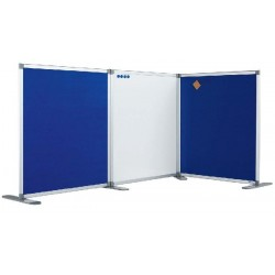 Perete despartitor cu panou textil albastru 120 x 180 cm, SMIT