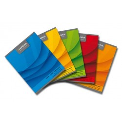 Caiet A5, 60 file - 70g/mp, liniat stanga, coperta carton color, AURORA Office - matematica